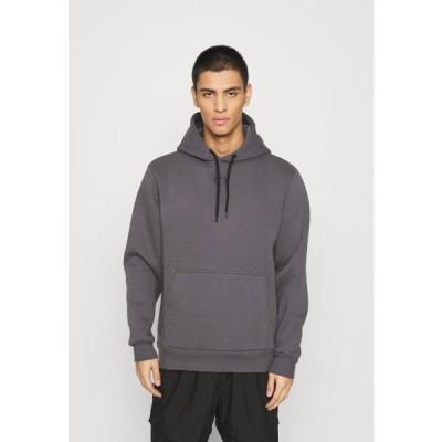 クリミナルダメージ メンズ スウェット ESSENTIAL HOOD - Sweatshirt - charcoal