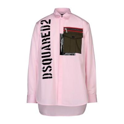 ディースクエアード DSQUARED2 シャツ ピンク 48 コットン 100% / ポリウレタン シャツ