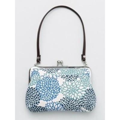 日本製  カヤ 帆布堂 花衣がま口ハンドバッグ || 財布 ショルダーバッグ