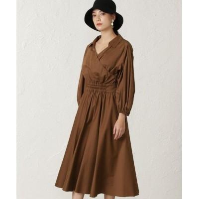 EPOCA/エポカ コットンクロスシャツドレス キャメル1 38
