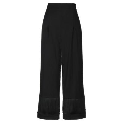 BIANCOGHIACCIO パンツ ブラック 40 ポリエステル 62% / レーヨン 35% / ポリウレタン 3% パンツ