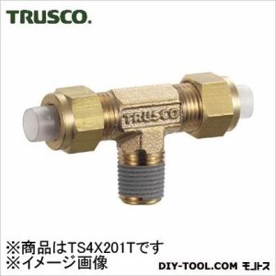 トラスコ(TRUSCO) クイックシール継手チーズφ4X2呼びR1/8 25 x 54 x 10 mm TS-4X2-01T