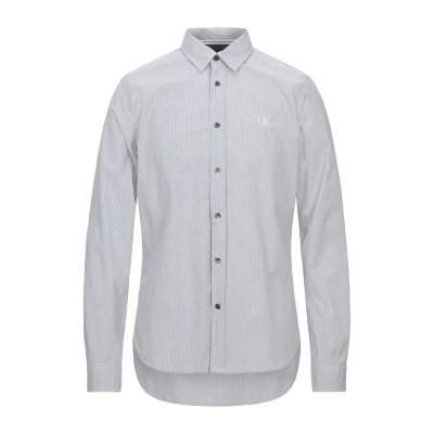 YOOX - CALVIN KLEIN JEANS シャツ ホワイト M コットン 97% / ポリウレタン 3% シャツ