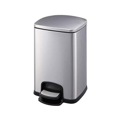 CXX Pedal-Type Stainless Steel Trash Can Cover Slowly Landed Mute Durable Home Office 20L/25L 01【並行輸入品】