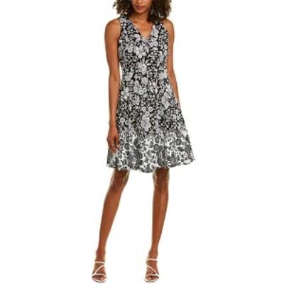 マギーロンドン レディース ワンピース トップス Maggy London Mini Dress black/soft white