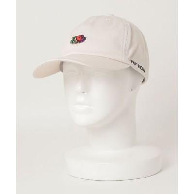 帽子 キャップ 【FRUIT OF THE LOOM/フルーツオブザルーム】コットンツイルロゴ刺繍ベースボールキャップ