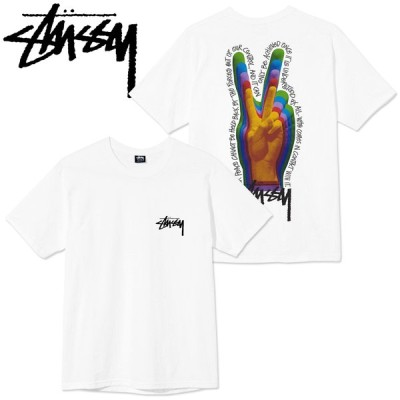 STUSSY ステューシーTシャツ【 Peace Sign  S/S Tee】White/2021S メンズウエアー