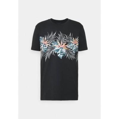 クイックシルバー Tシャツ メンズ トップス PARADISE EXPRESS TEE - Print T-shirt - black