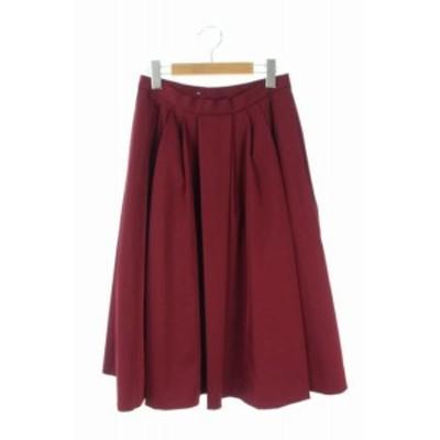 【中古】ザ シンゾーン THE SHINZONE スカート グログラン プリーツ ロング 36 ワインレッド /AA ■OS レディース