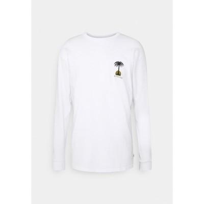 クイックシルバー カットソー メンズ トップス DESERT SNAKE  - Long sleeved top - white