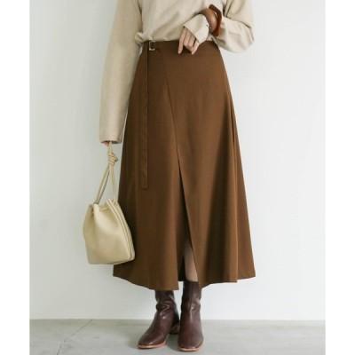 スカート 切り替えデザインフレアスカート