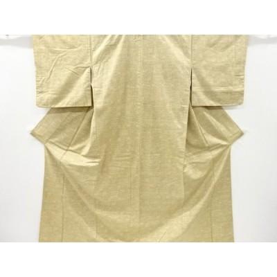 宗sou 変わり市松模様織り出し十日町紬着物【リサイクル】【着】