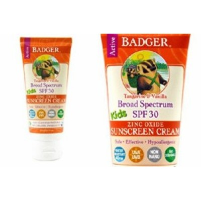 【赤ちゃん安心ブランド】BADGER Sunscreen Cream SPF30 PA+++ バジャー キッズ用  日焼け止めクリーム 87ml