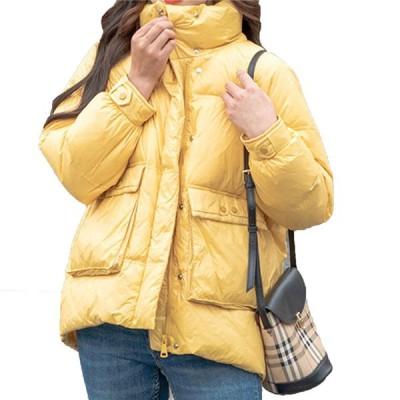 レディース 秋冬 ダウンジャケット アウター ショート丈 ダウン 暖かい 保温 防風 防寒 フード付き ファー きれい かわいい カジュアル