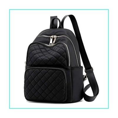 【新品】Women's Backpack Purse Water Resistant Nylon Anti-Theft Lightweight Daypack (A-Black)(並行輸入品)