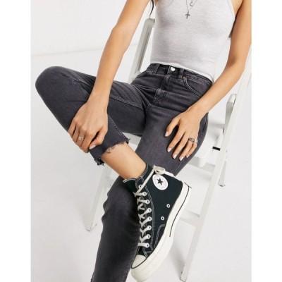 トップショップ Topshop レディース ジーンズ・デニム ボトムス・パンツ straight leg jeans in washed black ウォッシュブラック