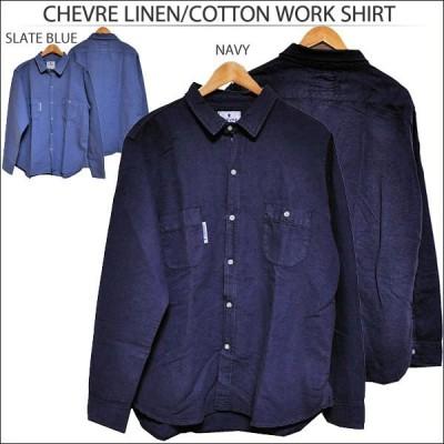 CHEVRE[シェーブル]LINEN/COTTON WORK SHIRT[リネン コットン ワークシャツ レギュラーカラー]【ZZ】