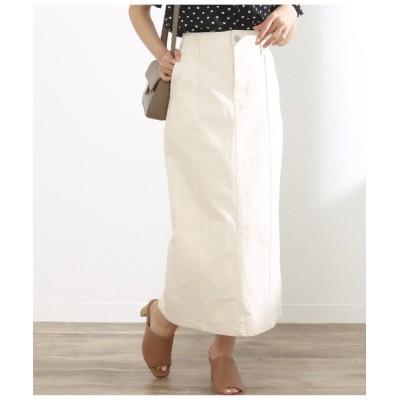 CHILLE / スリット入りデニムロングスカート WOMEN スカート > デニムスカート
