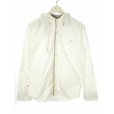 【中古】ホームグロウン HOMEgrown パーカー フード付き ジャケット M オフホワイト 白 長袖 上着 アウター メンズ