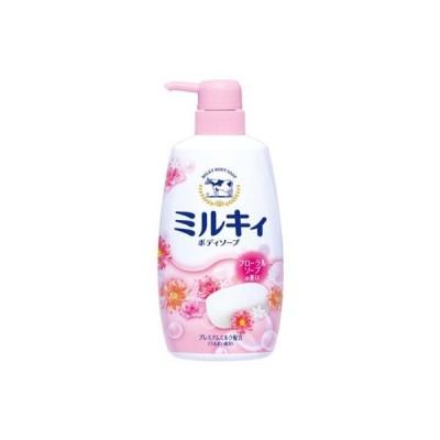 ミルキィボディソープ フローラルソープの香り ポンプ付 550ml 牛乳石鹸共進社【PT】