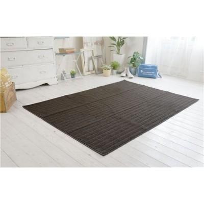 防ダニ ラグマット/絨毯 〔90×130cm 長方形 ブラウン〕 日本製 洗える 防滑 『スミノエ ナチュール』 〔リビング ダイニング〕〔代引不可〕