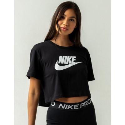 ナイキ NIKE SB レディース ベアトップ・チューブトップ・クロップド Tシャツ トップス NIKE Sportswear Essential Crop Tee BLACK