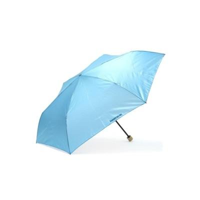 【ギャレリア】  イノベーター 折りたたみ傘 innovator 折り畳み傘 58cm 雨傘 軽量 撥水 ユニセックス ライト ブルー F GALLERIA