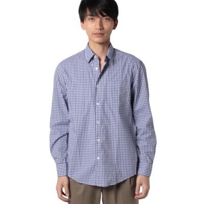 BENETTON (mens) ギンガムチェックシャツ(ブルー系)【返品不可商品】