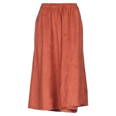 ジジル JIJIL 7分丈スカート 赤茶色 42 ポリエステル 90% / ポリウレタン 10% 7分丈スカート