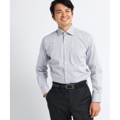 (TAKEO KIKUCHI/タケオキクチ)【Sサイズ~】ツイルロンドンストライプ ビジネスシャツ/メンズ チャコールグレー(314)