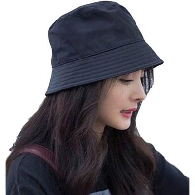 エレクトリックサーカス 折りたたみ バケット 帽子 紫外線 UV カット アウトドア カジュアル 軽量(ブラック, Free Size)