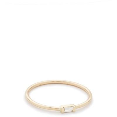ゾーイ チコ Zoe Chicco レディース 指輪・リング ジュエリー・アクセサリー 14k Gold Horizontal Diamond Ring Gold/Clear
