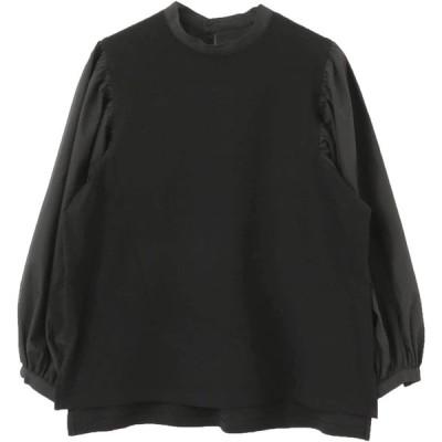 [センスオブプレイス] シャツ ブラウス ボリュームスリーブトップ レディース AA07-21B102 BLACK FREE