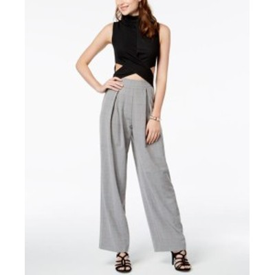 XOXO キスハグ ファッション ジャンプスーツ XOXO Womens Black Size Medium M Wide Leg Cut Out Mock Neck Jumpsuit