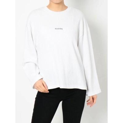tシャツ Tシャツ ワッシャープリーツロゴロンT