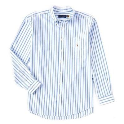 ラルフローレン メンズ シャツ トップス Big & Tall Striped Cotton Oxford Long-Sleeve Woven Shirt
