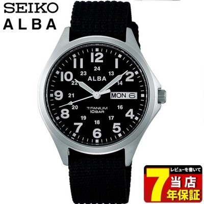 ポイント最大8倍 ALBA アルバ クオーツ SEIKO セイコー メンズ 腕時計 黒 ブラック ナイロン AQPJ404 国内正規品 レビュー7年保証