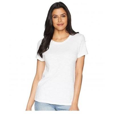 Lilla P リラP レディース 女性用 ファッション Tシャツ Short Sleeve Back Seam Tee - White