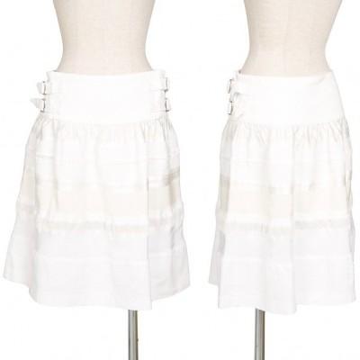 ジュンヤワタナベ コムデギャルソンJUNYA WATANABE COMME des GARCONS 異素材切替デザインスカート 白SS 【レディース】