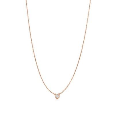 ティファニー TIFFANY ネックレス ローズゴールド 18K ダイヤモンド 0.10カラット