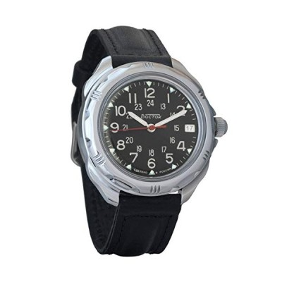 Vostok Komandirskie Military Russian Mechanical Mens Wrist Watch 2414/211783 並行輸入品