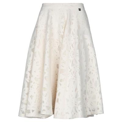 MY TWIN TWINSET 7分丈スカート アイボリー M ポリエステル 97% / ポリウレタン 3% 7分丈スカート