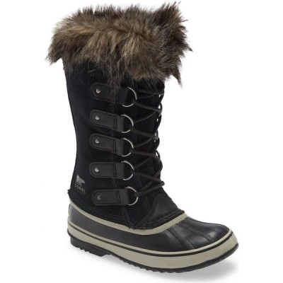 ソレル SOREL レディース ブーツ シューズ・靴 Joan of Arctic Faux Fur Waterproof Snow Boot Black/Quarry