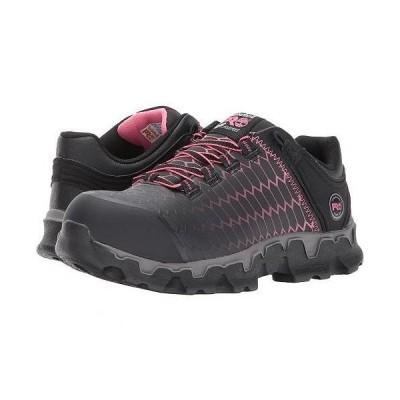 Timberland PRO ティンバーランド レディース 女性用 シューズ 靴 スニーカー 運動靴 Powertrain Sport Alloy Safety Toe EH - Black/Pink Raptek
