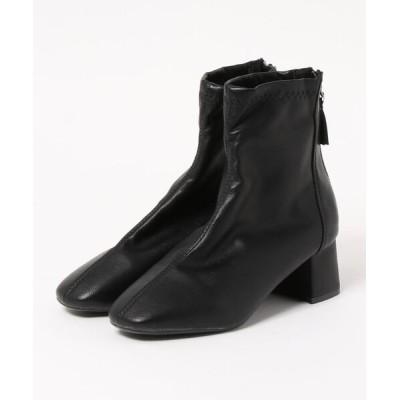 STYLEBLOCK / PUレザースクエアトゥチャンキーヒールショートブーツ WOMEN シューズ > ブーツ