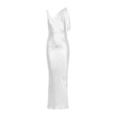 DEITAS ロングワンピース&ドレス アイボリー 34 シルク 100% ロングワンピース&ドレス