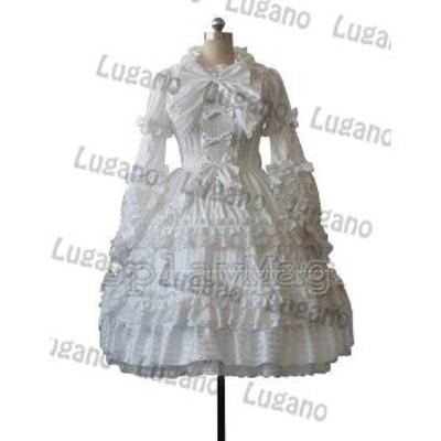 DK865 ◆ 萌えゴシック ロリータ風 Sweet Gothic Lolita風 21 コスプレ衣装  新品 完全オーダメイドも対応可