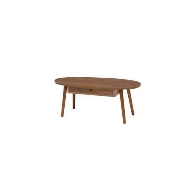 ds-2316717 センターテーブル/ローテーブル 【ブラウン 幅95×奥行40×高さ37cm】 引き出し 木製脚付き 組立式 R6350BR 〔リビング〕【代引不可】