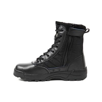 R-STYLE ミリタリースタイルな足下 サバゲー にも YKK監修 第三世代 サイドジッパー タクティカル ブーツ (ブラック44 (27