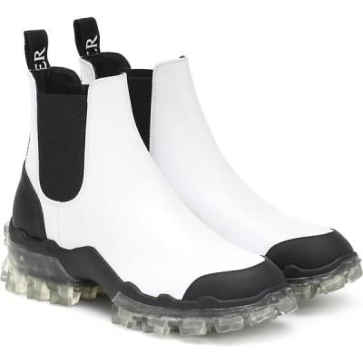 モンクレール Moncler レディース ブーツ ショートブーツ シューズ・靴 hanya leather ankle boots White